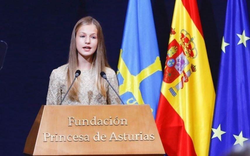 Princesa Leonor: «Tenho quase 15 anos, sei bem o que se passa no nosso país»