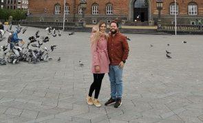 Tatiana e Bruno. As imagens da lua de mel romântica na Dinamarca