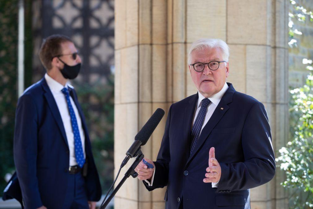 Covid-19: Presidente da Alemanha fica em quarentena após caso positivo num guarda-costas