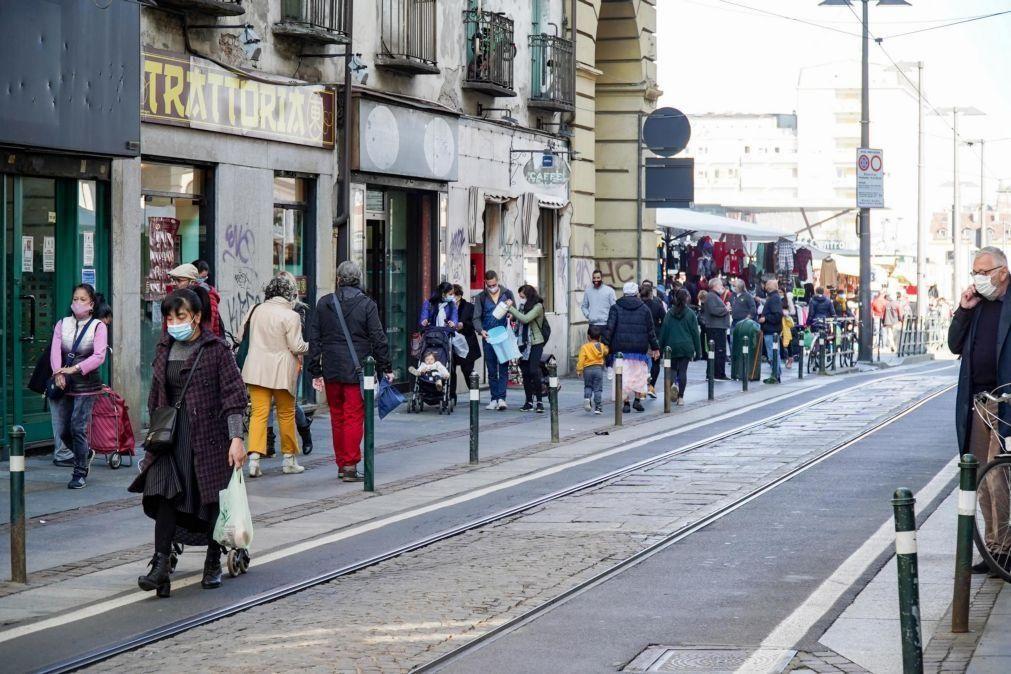 Covid-19: Itália atinge recorde diário de infeções com 10.925 novos casos e soma 47 mortes