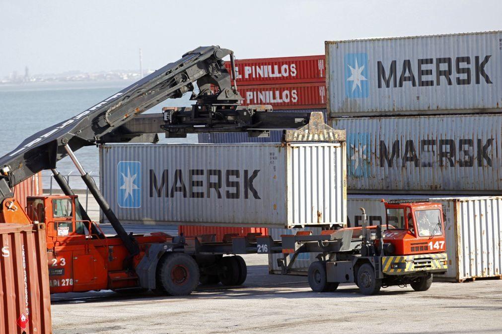 Movimento nos portos de Portugal continental cai 8,8% até agosto