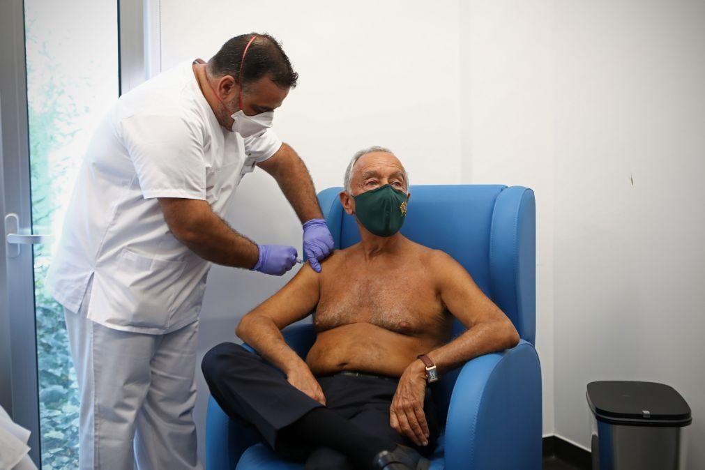 Marcelo vacina-se contra a gripe para