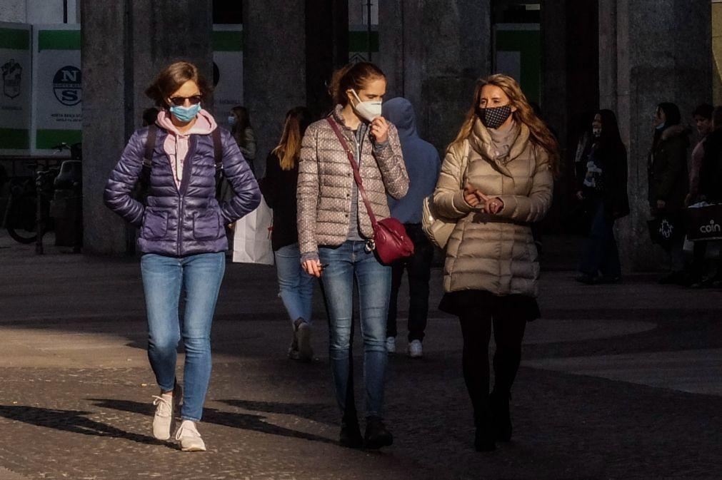 Covid-19: Itália registou ligeira descida de novos casos mas com menos testes