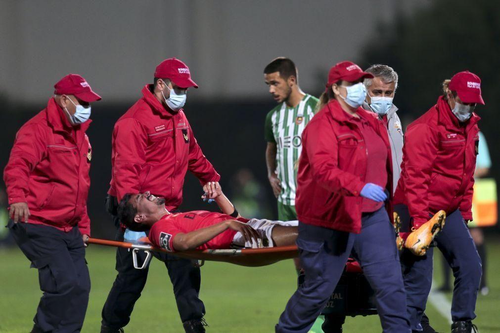 André Almeida sofreu