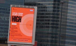 Covid-19: Reino Unido com perto de 19 mil novas infeções, mais duas mil que na véspera