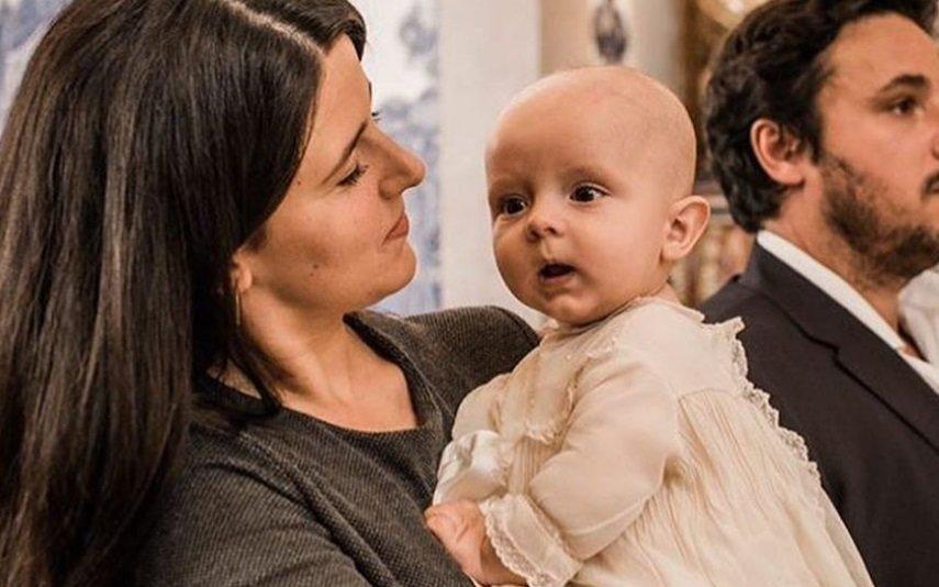 Maria Pitta Paixão batiza filho mais novo