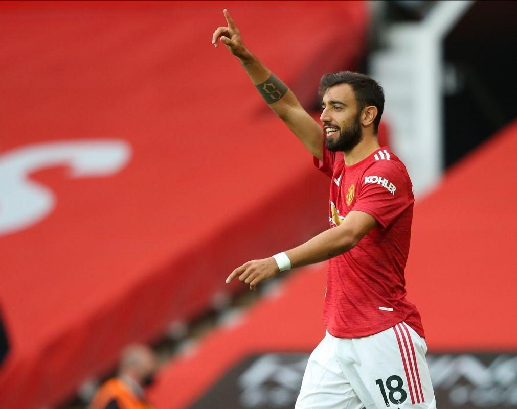 Bruno Fernandes surpreendido por capitanear Manchester United na Liga dos Campeões