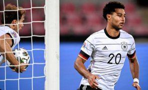 Covid-19: Serge Gnabry é o primeiro positivo no campeão europeu Bayern Munique