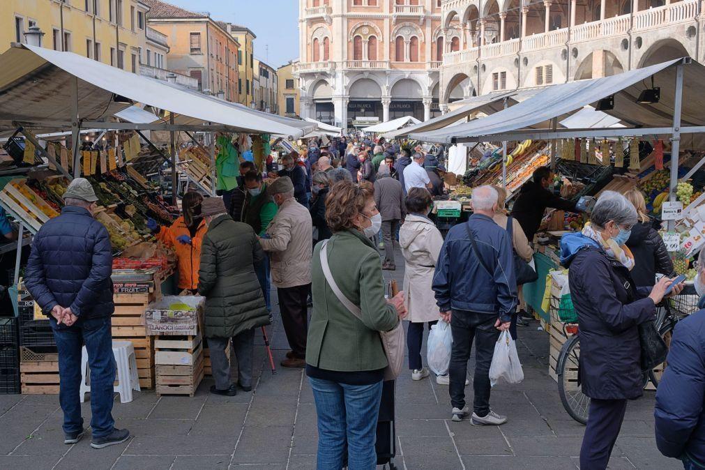 Covid-19: Itália regista novo recorde com mais de 15 mil novos casos diários