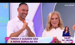 Teresa Guilherme e Cláudio Ramos são a nova dupla de apresentadores da TVI