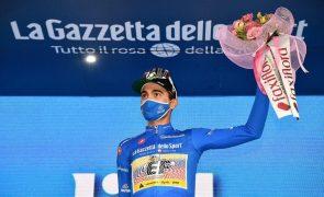 Giro: Ruben Guerreiro quase 'rei' da montanha com abandono de Visconti