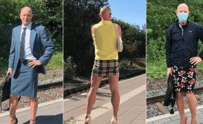 Engenheiro casado e pai de três filhos não abdica de usar saltos altos todos os dias