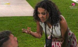 Big Brother Jéssica Fernandes castigada depois de ter partido garrafas