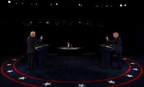 EUA/Eleições: Debate mais moderado revela diferentes visões do mundo