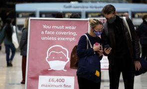 Covid-19: Reino Unido regista 23.012 novos casos e 174 mortos nas últimas 24 horas