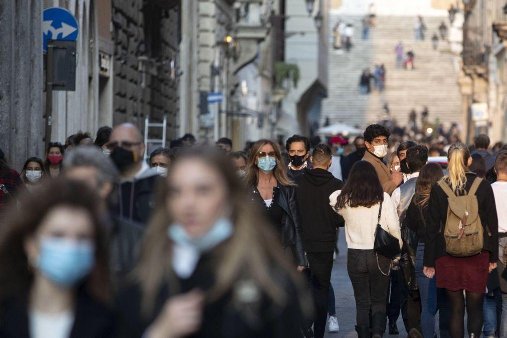 Covid-19: Itália atinge novo recorde com 21.994  casos nas últimas 24 horas