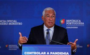 Covid-19: Costa afirma que luta contra pandemia é corrida de fundo e medidas devem ser modeladas