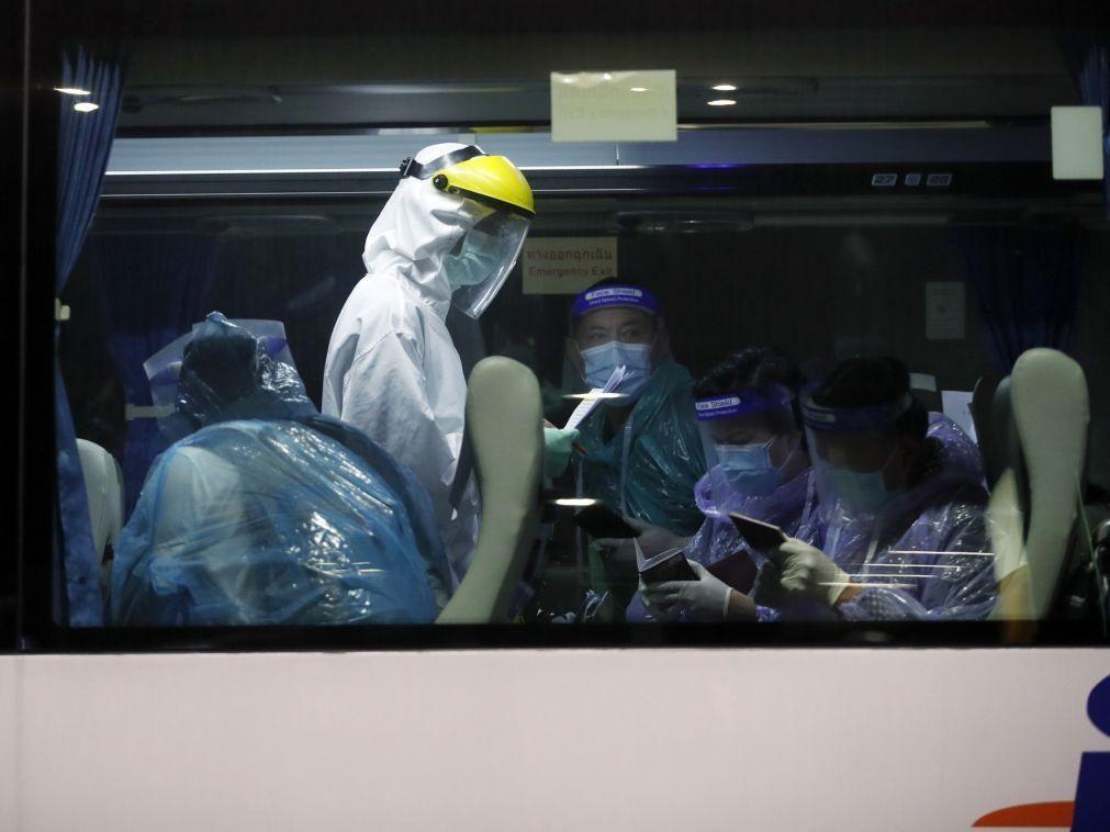 Covid-19: China soma cinco casos locais e 44 oriundos do exterior