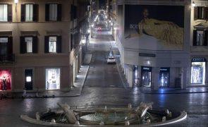 Covid-19: Itália impõe recolher obrigatório a partir de quinta-feira
