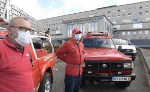 Bombeiros do Porto ameaçam estacionar viaturas à porta do INEM em protesto