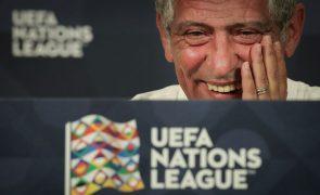 Fernando Santos anuncia escolhas para derradeiros jogos de Portugal em 2020