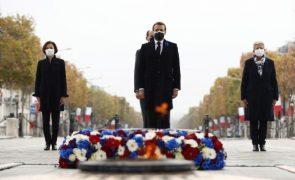 Macron presta homenagem aos soldados da Primeira Guerra Mundial