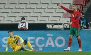 Portugal-Andorra: Cristiano Ronaldo soma 100.ª vitória de 'quinas' ao peito