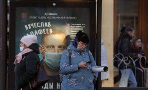 Covid-19: Rússia regista recorde de 442 mortes por covid-19 nas últimas 24 horas