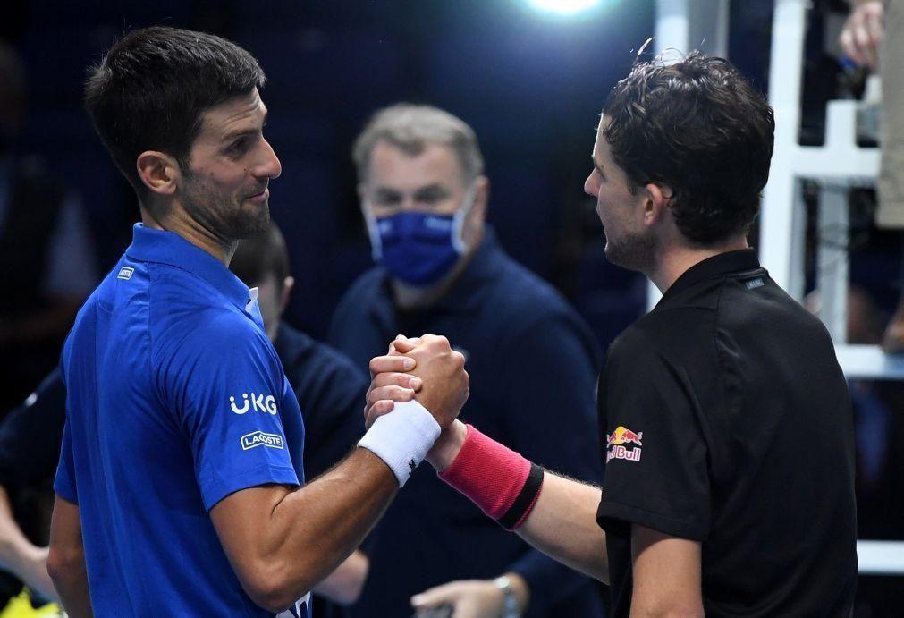 Thiem afasta Djokovic e garante que ATP Finals vão ter um campeão inédito