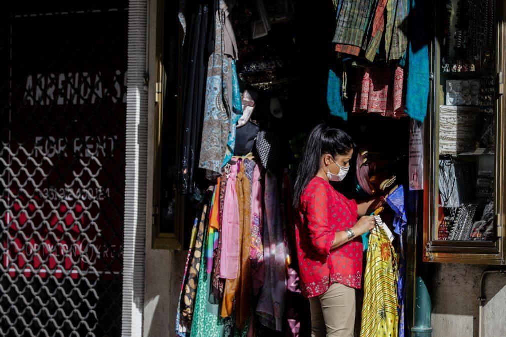 Covid-19: Negócios da Baixa lisboeta em grandes dificuldades por falta de turistas