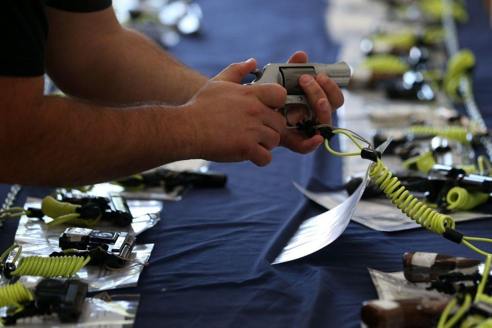 PSP destroi mais de 13.500 armas para assinalar Dia para a Eliminação da Violência contra Mulheres