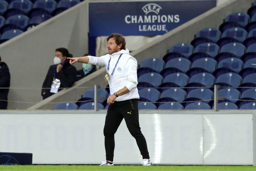 LC: Villas-Boas encara jogo do Marselha com o FC Porto como um 'match point'
