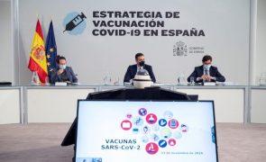 Covid-19: Espanha vai começar por vacinar utentes e pessoal de lares de idosos