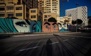 Lisboa ganha mural do britânico D*Face que é 'aperitivo' para festival Muro