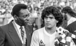 Pelé espera jogar à bola com Diego Maradona no céu
