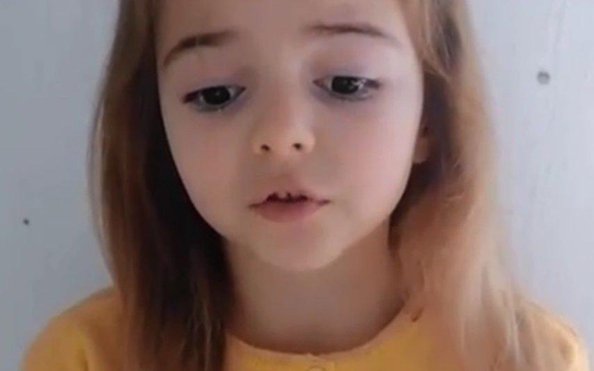 Violência contra as Mulheres Menina de seis anos dá a cara pela causa e vídeo torna-se viral