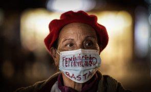 No Rossio lembraram-se as mulheres vítimas de violência e os crimes que a pandemia oculta