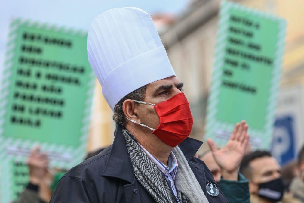 Covid-19: Centenas manifestam-se contra