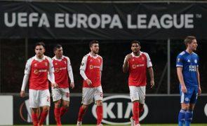Braga empata com Leicester e fica a um triunfo do apuramento na Liga Europa