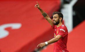 Golo de Bruno Fernandes eleito o melhor da jornada na Liga dos Campeões