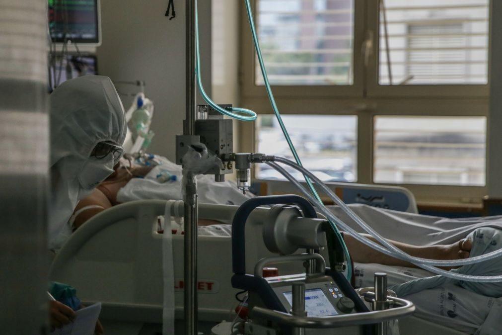 Covid-19: Portugal atinge novo máximo de doentes em cuidados intensivos