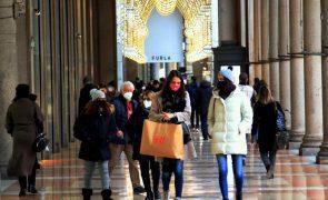Covid-19: Itália com 672 mortes num dia e à espera de indicações para o Natal