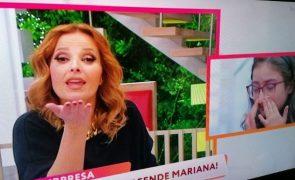 Cristina Ferreira surpreende menina com síndrome rara e deixa-a em lágrimas