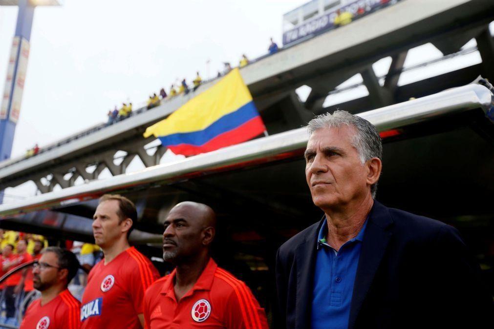 Federação Colombiana de Futebol anuncia saída do treinador português Carlos Queiroz