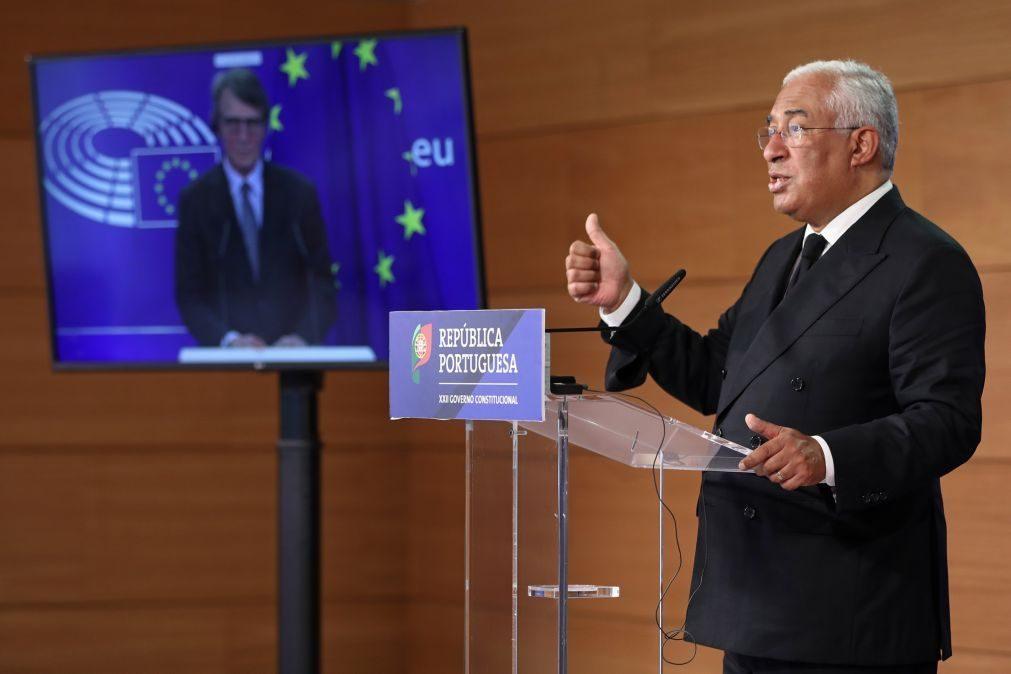 UE/Presidência: Costa recusa em absoluto reabrir discussão sobre acordo do Conselho Europeu de julho