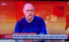 Jornalista da SIC comete gafe sobre Eduardo Lourenço e torna-se viral