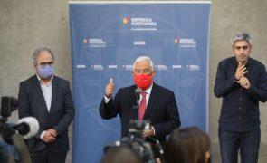 Covid-19: Costa afirma que medidas a anunciar no sábado vão vigorar até 7 de janeiro