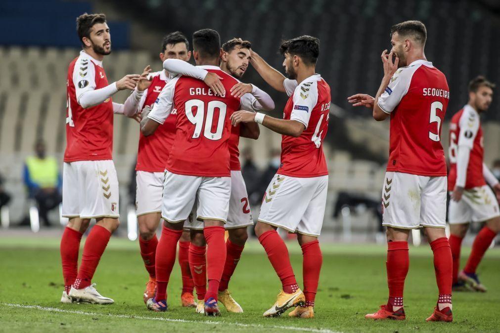 Sporting Braga vence AEK Atenas e garante apuramento na Liga Europa