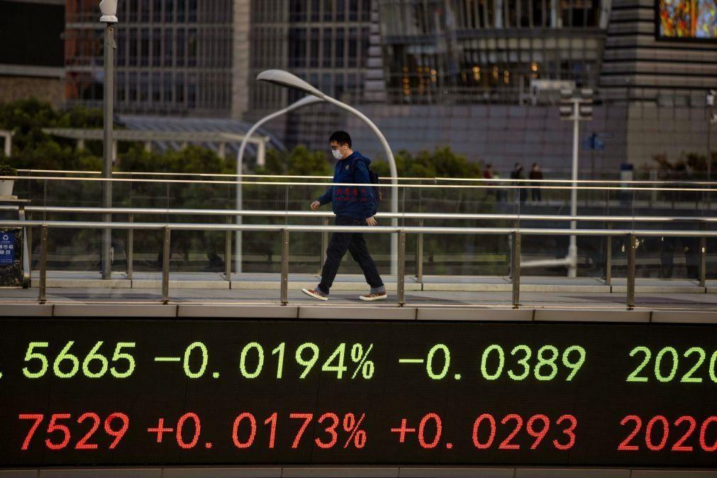 Bolsa de Xangai encerra a subir 0,07%
