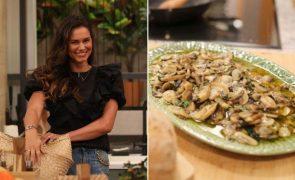Cláudia Vieira A receita de cogumelos à bulhão pato da estrela da SIC. O petisco ideal para o confinamento